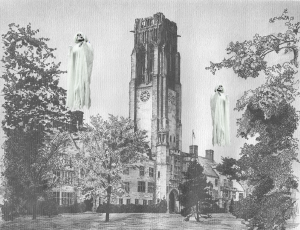 Ghosts flying about the University of Toledo