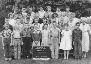 Kenneth Adms in the fourth grade with Mrs. Ethel Mordoff in 1958 at Concord Elementary