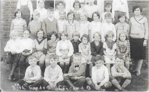 Concord Elementary Grades 3 and 4 with Mrs. Ethel Mordoff., 1932.