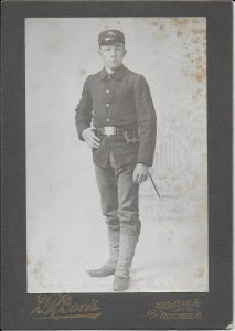 Wade Adams in uniform, 1898.