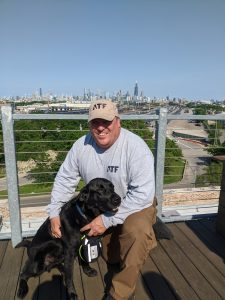 Gordon Thompson and his latest K9 co-worker, Theo.