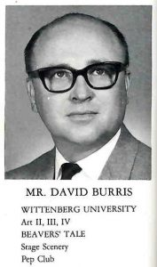Mr. David Burris from the 1665 RHS Yearbook